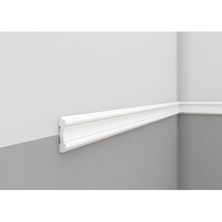 Elastyczna biała LISTWA ŚCIENNA MDD339 F MARDOM DECOR