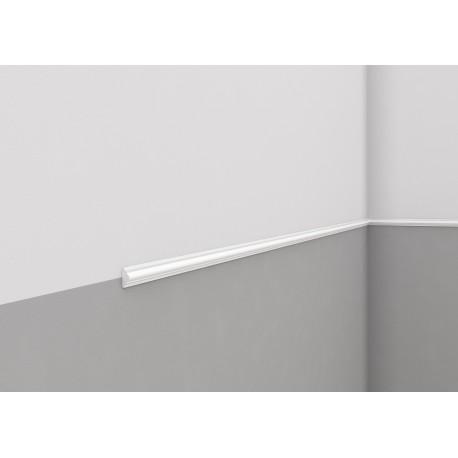 LISTWA ŚCIENNA MD003 MARDOM DECOR Biała gładka z delikatnym wzorem