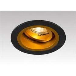 LAMPA WPUSZCZANA CHUCK DL ROUND BLACK-GOLD 92702 Zuma Line