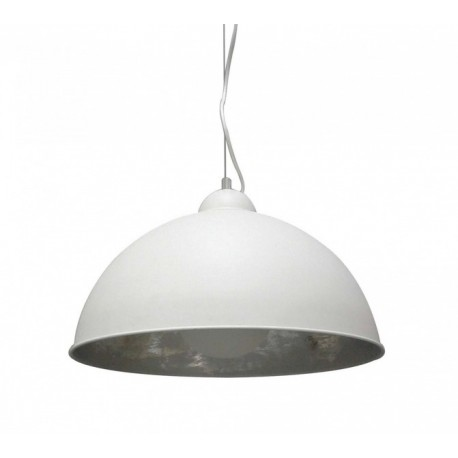 LAMPA WISZĄCA ANTENNE TS-071003P-WHSI Zuma Line, biało-srebrna, nowoczesna, metalowa, designerska, do salonu, kuchni, holu