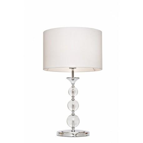 LAMPA STOŁOWA REA RLT93163-1W Zuma Line, lampy stołowe, nowoczesne, białe, eleganckie, stylowe, do sypialni, abażur biały