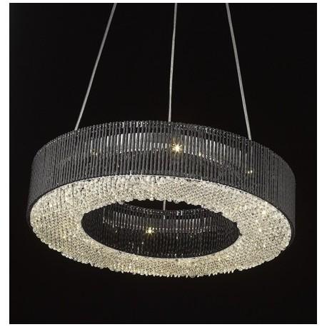 LAMPA WISZĄCA CARLO P0207-08L Zuma Line, czarna lampa, lampa glamour, lampa z kryształkami, zuma line