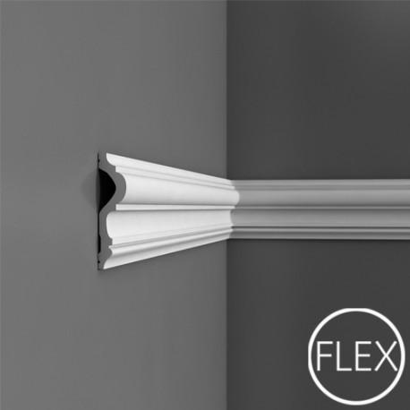 PROFIL ŚCIENNY FLEX P8050F LUXXUS ORAC DECOR, ELASTYCZNA SZTUKATERIA, KLASYCZNA, ODPORNA, STYLOWA, ORYGINALNA, WEWNĘTRZNA