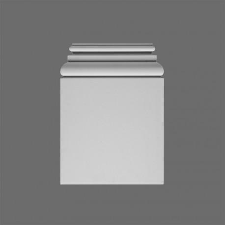 BAZA PILASTRA K254 LUXXUS ORAC DECOR, dorycka, podstawa pilastra, sztukateria, bez zdobień, odporna, wodoodporna