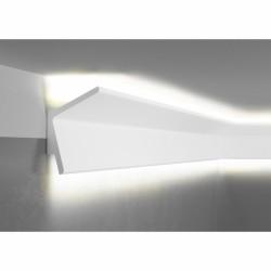 LISTWA PRZYSUFITOWA OŚWIETLENIOWA QL013R PAPER MARDOM DECOR, SZTUKATERIA, GŁADKA, Z ODBLASKIEM, SUFITOWA, OŚWIETLENIE LED