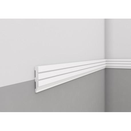 LISTWA ŚCIENNA MDD411 Frezowana biała Mardom Decor