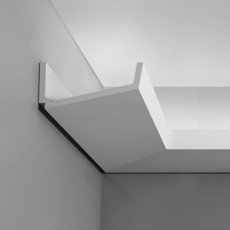 Listwa o wietleniowa przysufitowa c352 flat luxxus orac decor sztukateria designerska i g adka - Cornisa para led ...