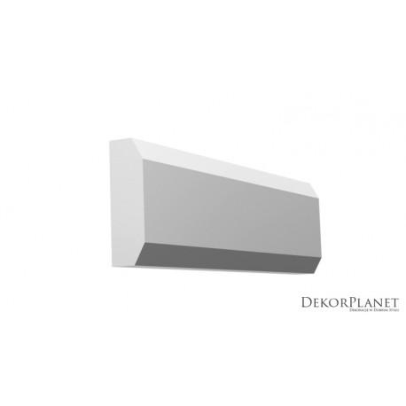 DZLS06, Symetryczna listwa elewacyjna, styropianowa, nowoczesna, dekorplanet, sztukateria elewacyjna, dekory zewnętrzne,