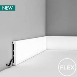 DX163F ELASTYCZNA GŁADKA LISTWA PRZYPODŁOGOWA ORAC DECOR AXXENT FLEX