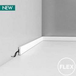 DX162F ELASTYCZNA GŁADKA LISTWA PRZYPODŁOGOWA SQUARE ORAC DECOR AXXENT FLEX