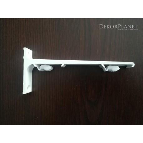 Uchwyt, wspornik 15 cm., podwójny ścienny do szyn karniszowych aluminiowych, Creativa, wspornik, uchwyt, ścienny, karnisze