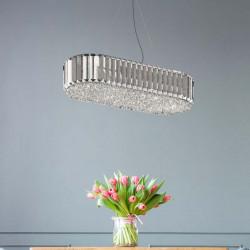 PODŁUŻNA LAMPA WISZĄCA, PRINCE ZUMALINE, P0360-06D-F4AC, LAMPY ZUMALINE, LAMPY Z KRYSZTAŁKAMI, DEKORPLANET, SKLEP Z OŚWIETLENIEM