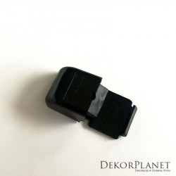 Czarny uchwyt pojedynczy sufitowy do szyn aluminiowych ZS Creativa + kołek z wkrętem