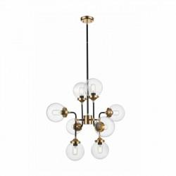 RIANO LAMPA WISZĄCA GOLD+BLACK+CLEAR, Zuma Line, P0454-08D-SDAC, riano zumaline, lampa zumaline, lampa wisząca zumaline, dekorpl