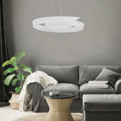 Zuma Line FALCON LAMPA WISZĄCA BIAŁA/WHITE 003064-0091 1520000213, LAMPY ZUMALINE, LAMPY WISZĄCE ZUMALINE, NOWOCZESNA LAMPA ZUMA