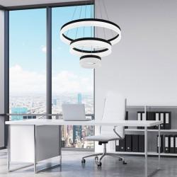 Zuma Line CIRCLE, zumaline circle, LAMPA LED ZUMALINE, LAMPA WISZĄCA LED, LAMPA WISZĄCA LED L-CD-03-BL, CZARNA LAMPA WISZĄCA LED