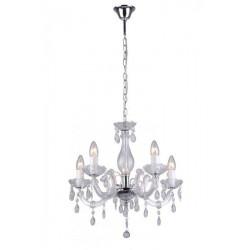 Magnolia, Zuma Line MAGNOLIA RLD94016-5A, BIAŁA LAMPA WISZĄCA MAGNOLIA, BIAŁA LAMPA GLAMOUR,