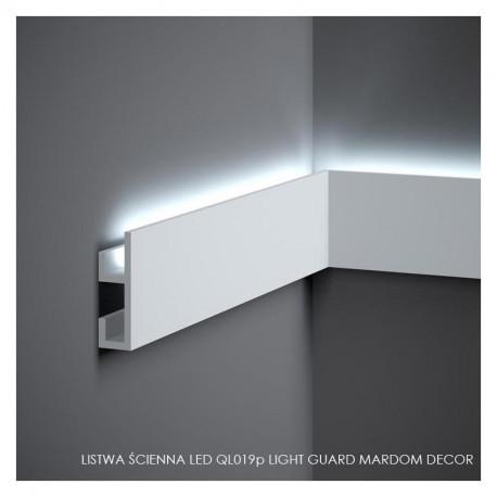LISTWY MALOWANE OŚWIETLENIOWE, QL019P MARDOM DECOR, LIGHT GUARD LISTWA LED, LISTWY PODŁOGOWE LED, LISTWY LEDOWE, LISTWY MARDOM,