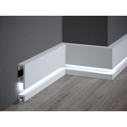 QL019 + QL021 MARDOM DECOR, LIGHT GUARD + SCRATCHSHIELD, LISTWA PRZYPODŁOGOWA LED ZESTAW, LISTWY PRZYPODŁOGOWE LED, LEDOWE LISTW