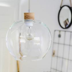 SVEA 13560174 DREWNIANA LAMPA WISZĄCA SPOTLIGHT