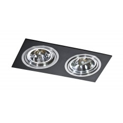 Lampa SIRO 2 GM2200Black/ Aluminium metal / Azzardo