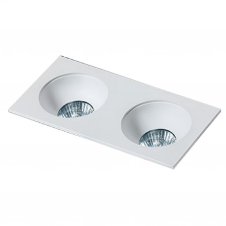 Lampa HUGO 2 Downlight bez wkładu GM2203 Downlight white / alumini Azzardo