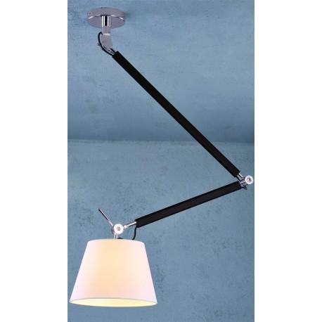 Lampa ZYTA PENDANT S WHITE MD2300-S PEN WH white/black/chro Azzardo