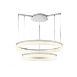 Lampa ZOLA 80/60 WHITE pendant 7105-2PL-8060 white acryl/metal Azzardo