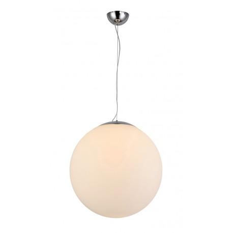 Lampa WHITE BALL 40 pendant FLWB40WH white glass/metal chrom Azzardo
