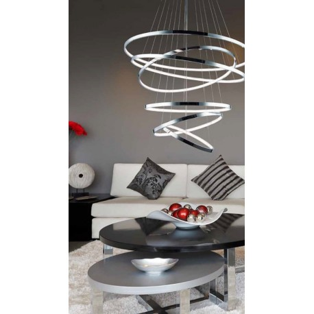 Lampa WHEEL 6 pendant MP57011-6A chrome chrome/metal Azzardo