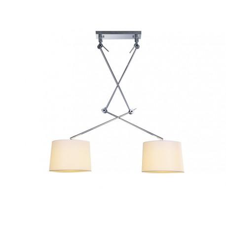 Lampa ADAM 2 S WHITE PENDANT MD2299-2S white/apricot Metal/fa Azzardo