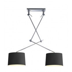 Lampa ADAM 2 S BLACK PENDANT MD2299-2S black/apricot Metal/fa Azzardo