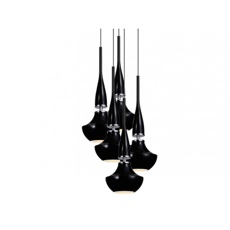 Lampa TASOS 5 pendant MD2095A-5BK metal/glass/ chrome/ Azzardo
