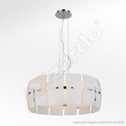Lampa TAURUS pendant MD 2050-4W white glass/chrome Azzardo
