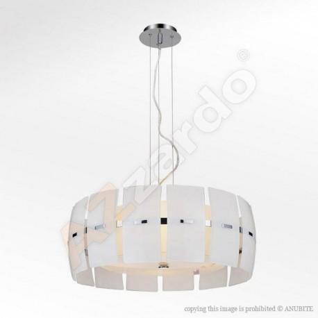 Lampa TAURUSpendant MD 2050-4W white glass/chrome Azzardo