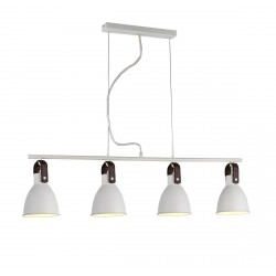 Lampa TESSIO 4 pendant 2653-4P WH white metal/leather Azzardo