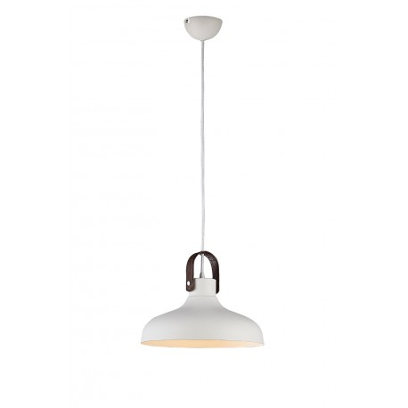 Lampa TESSIO 30 pendant 5178-1P WH white metal/leather Azzardo