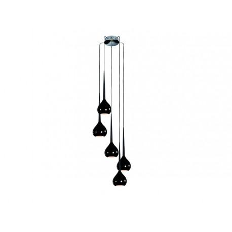 Lampa AGA-5 pendant MD1289-5 black /black metal / gl Azzardo