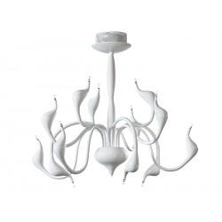Lampa SNAKE pendant MD 6230-12 white metal Azzardo