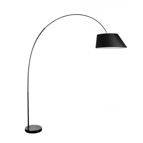 Lampa BARD floor FL-12041BK black metal/fabric Azzardo