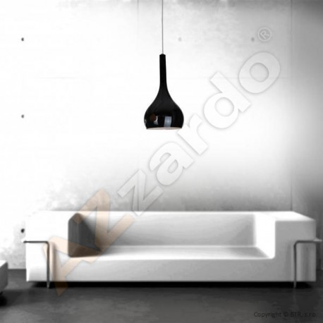 Lampa SOUL 1 pendant LP 5114-1BK black iron/glass Azzardo