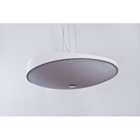 Lampa CAMPANA 48 pendant MD 5649M white metal/glass Azzardo