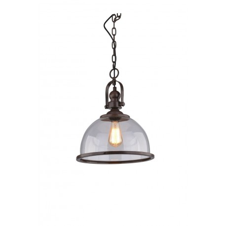 Lampa CLARE 71255-1 brown metal/glass Azzardo