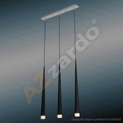 Lampa STYLO 3 pendant MD 1220B-3 black metal/glass Azzardo