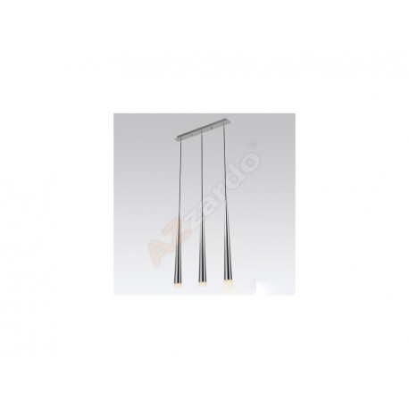 Lampa STYLO 3 pendant MD 1220B-3 chrome metal/glass Azzardo