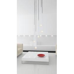 Lampa STYLO 5 pendant MD 1220A-5 white metal/glass Azzardo
