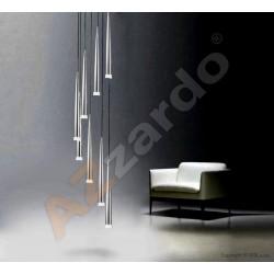 Lampa STYLO 8 pendant MD 1220A-8 chrome metal/glass Azzardo