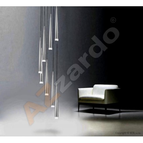 Lampa STYLO 8 pendant MD 1220A-8 chrome metal/glass Azzardo