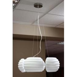 Lampa RONDO pendant DH 6081-5 chrome/white metal/gla Azzardo