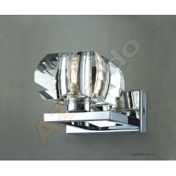 Lampa RUBIC 1 wall 1798-1W metal/chrome/ acryl Azzardo